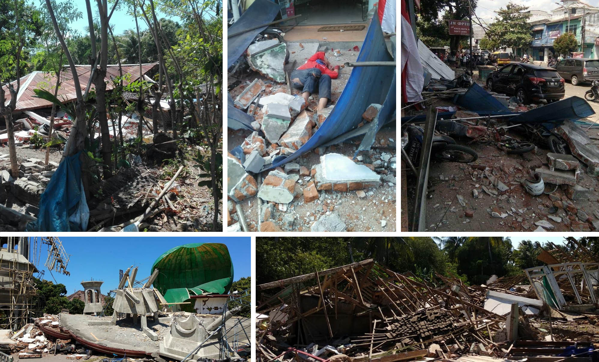 Desa, dusun, sampai kota Mataram terkena dampak gempa berkekuatan 7.0 SR. -  Dok MRI/ACT