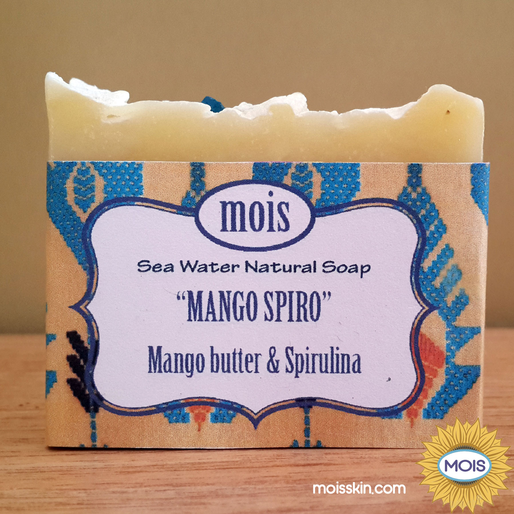 Special soap made from extra moisturizing luxury mango butter and green spirulina.